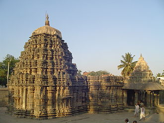 Western Chalukya architecture - Amrtesvara Temple in Annigeri was built in the Dharwad district in 1050 CE with dravida articulation. This was the first temple made of soapstone