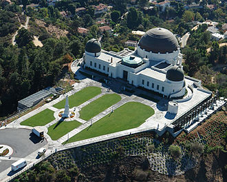 Ed Krupp - An aerial view of Griffith Observatory on the south facing slope of Mount Hollywood in Griffith Park, Los Angeles