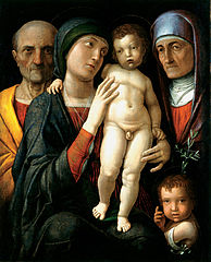 Holy Family with St. Elizabeth and St. John the Baptist as a Child