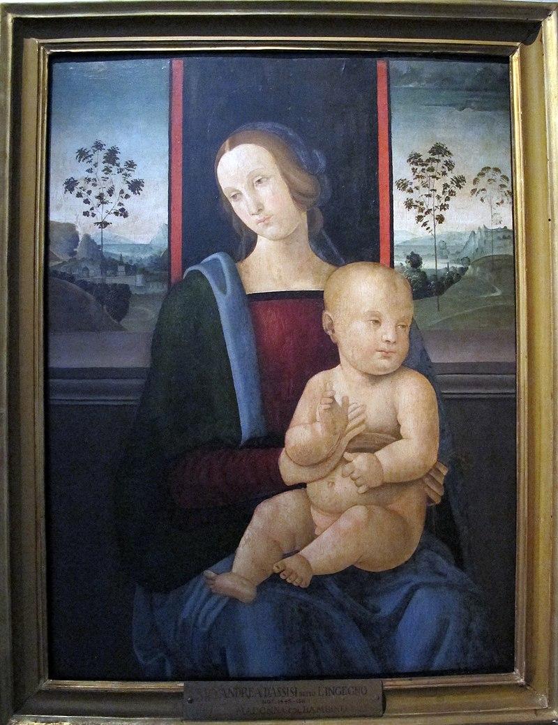 Andrea d'assisi detto l'ingegno, madonna col bambino.JPG
