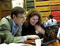 Andrew Gray at Wikimedia UK Ada Lovelace Day editathon.JPG