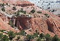 Angular unconformity - Flagstaff Formation over Twist Gulch Formation (Salina Canyon, central Utah, USA) 1 (8291066875).jpg