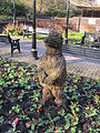 Animal sculpture in the Grosvenor Roundabout, Newcastle-under-Lyme.jpg