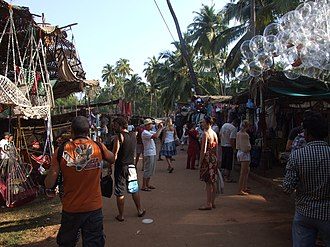 Hippie trail - Hippie market in Anjuna, Goa, 2011