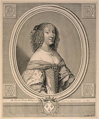 Anne Marie Louise d'Orléans, Duchess of Montpensier - Mademoiselle in 1652 by Gilbert de Seve