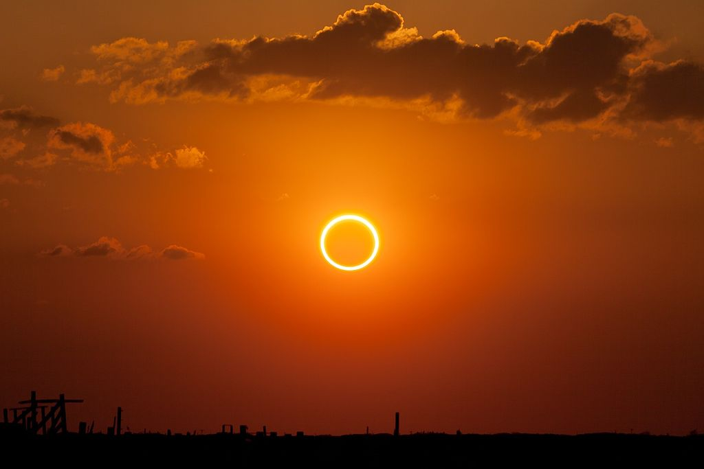 "Annular eclipse ""ring of fire"""