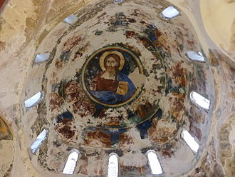 Turkish invasion of Cyprus - A view from the interior of Antiphonitis, where frescoes have been looted