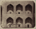 Antiquities of Samarkand. Inner Courtyard of the Shir Dar Madrasah (Eastern Side). View of Two-Storied Cells Surrounding the Inner Courtyard WDL3838.png