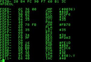 Machine code monitor - Apple II 6502 machine code monitor