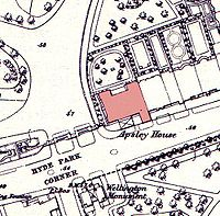 Apsley house on an 1869 Ordnance Survey Map