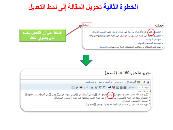 Arabic wikipedia tutorial fixing a typo (3).png