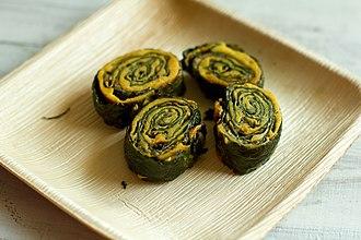 Udupi cuisine - Image: Arbi colocasia pakoda fritters