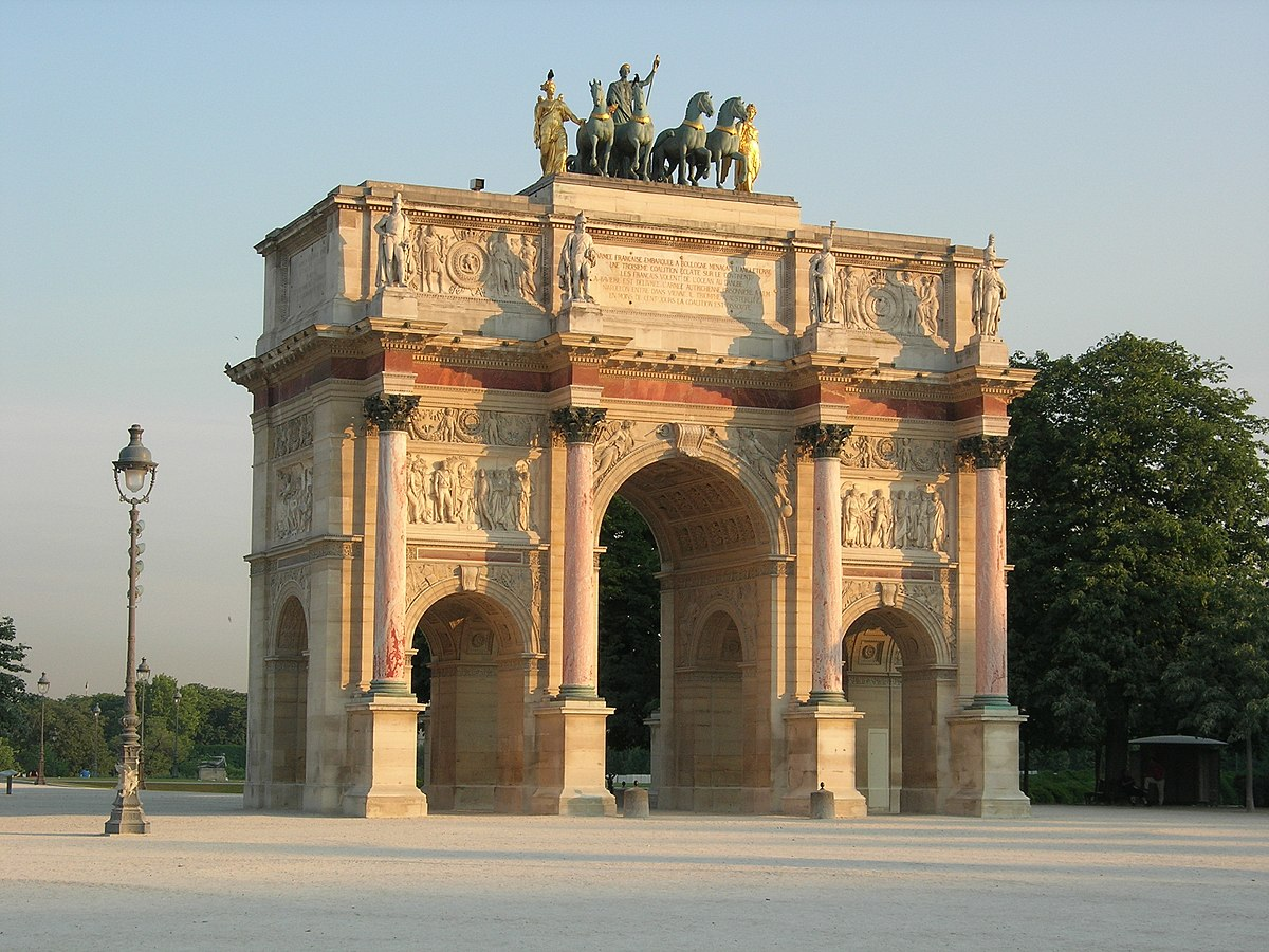 Arc de triomphe du carrousel wikip dia for Porte in french