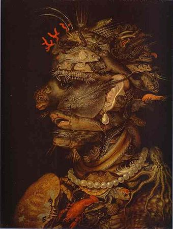 Anthropomorphic pareidolia by Giuseppe Arcimboldo