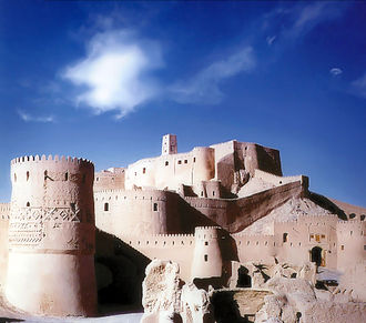 Citadel - Citadel of Bam, Iran, reconstructed after being destroyed in an eartquake