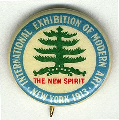 Armory Show button, 1913