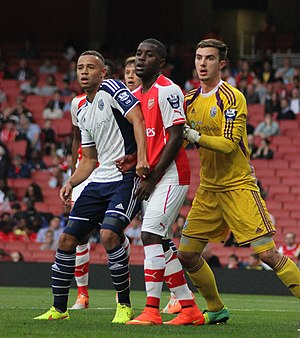 Joel Campbell - Campbell playing against West Brom with Arsenal in 2014