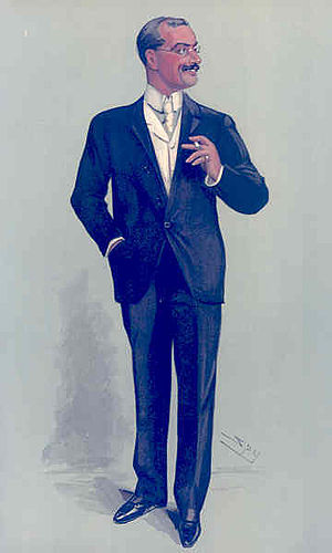 Sir Arthur Pearson, 1st Baronet - Pearson caricatured by Spy for Vanity Fair, 1904