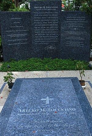 Arturo Tolentino - Tolentino's tomb at the Libingan ng mga Bayani.