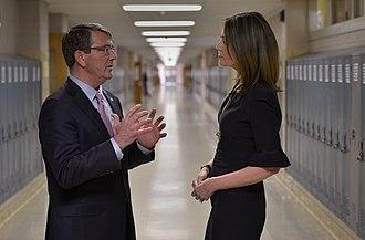 Savannah Guthrie - Guthrie interviews U.S. Secretary of Defense Ash Carter in March 2015.