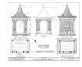 Ashhurst Estate, Summer House, Garden Street, Mount Holly, Burlington County, NJ HABS NJ,3-MOUHO,12A- (sheet 1 of 4).png
