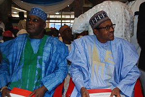 Muhammadu Buhari - Buhari with former Vice President Atiku Abubakar (left)