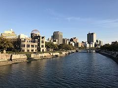 Atomic Bomb Dome and Motoyasugawa River from Aioibashi Bridge 4.jpg