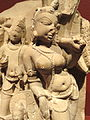 Attendants of Vishnu, view 3, personification of mace, Rajasthan, India, 10th-11th century AD, sandstone - San Diego Museum of Art - DSC06375.JPG