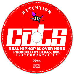 Attention Cats CD-Label