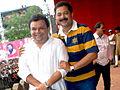 Atul Parchure and Aadesh Bandekar at Dahi Handi celebrations in Thane.jpg