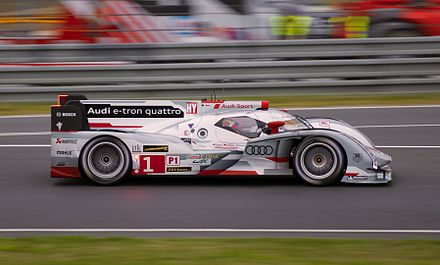 The Audi R18, a Le Mans Prototype car, during an endurance race Audi R18 e-tron quattro at 2013 Le Mans.jpg