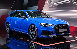 Audi RS 4 - 2018 Audi RS4 Avant finished in Nogaro Blue at the IAA 2017