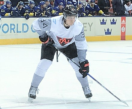 Matthews with Team North America during the 2016 World Cup of Hockey Auston Matthews WCH 2016 (2).jpg