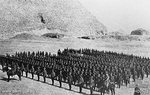 3rd Battalion (Australia) - 3rd Battalion on parade in Egypt, December 1914
