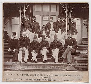 Fred Spofforth - Spofforth (back row, third from right) with the Australian Cricket Team (1882)
