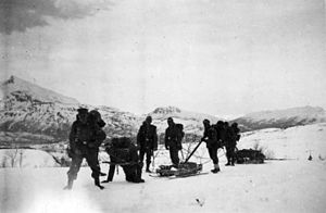 Austrian soldiers from the 2nd Gebirgsjäger division headed over Korgenfjellet..jpg