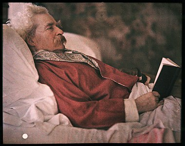 Autochrome of Mark Twain