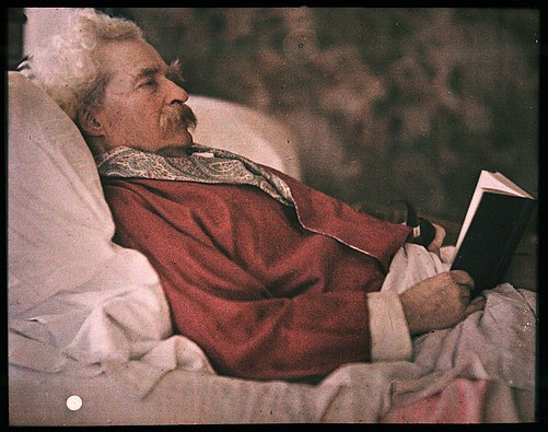 Autochrome of Mark Twain