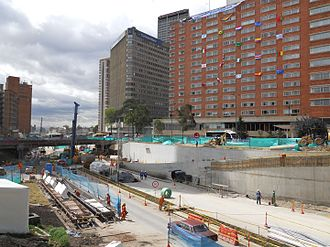 TransMilenio - Construction of Line K on 26 Avenue