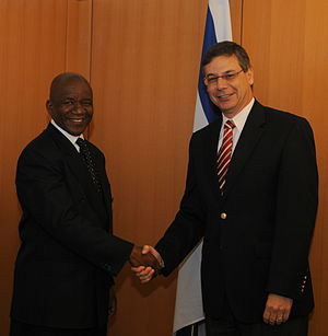 Israel–South Africa relations - Israeli Deputy Foreign Minister Ayalon meets with South African DFA D-G Matjila, 2009