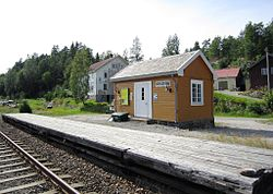 View of the village train station