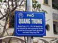 Bảng tên phố Quang Trung, Hà Nội 001.JPG