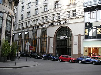 BAWAG - BAWAG headquarters in the Seitzergasse in the first Viennese district Innere Stadt