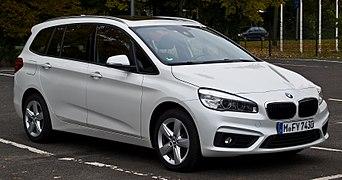 BMW 218d Gran Tourer Advantage (F46) %E2%80%93 Frontansicht, 24. Oktober 2015, M%C3%BCnster