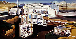 BORAX experiments -  A cutaway view of the BORAX-V facility.