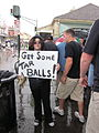 BP Oil Flood Protest NOLA Get Some Tar Balls.JPG