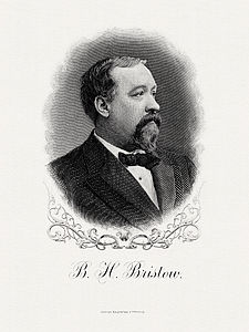 BRISTOW, Benjamin H-Treasury (BEP engraved portrait)