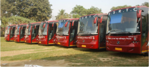 Bihar State Road Transport Corporation - BSRTC Mercedes buses