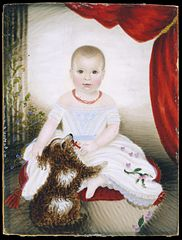 Baby with Rattle and Dog