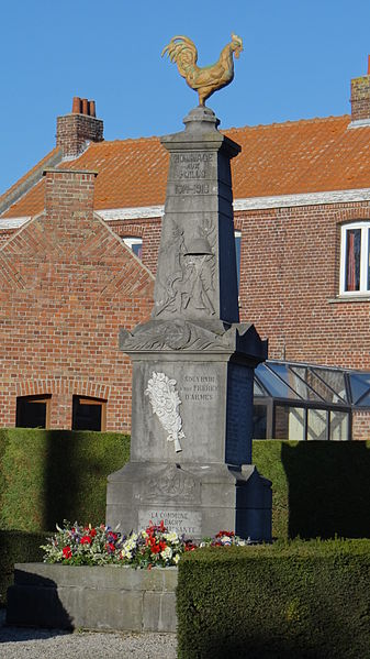 Bachy Monuments aux morts, Nord, Nord-Pas-de-Calais, France.